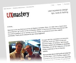 UX Mastery email newsletter
