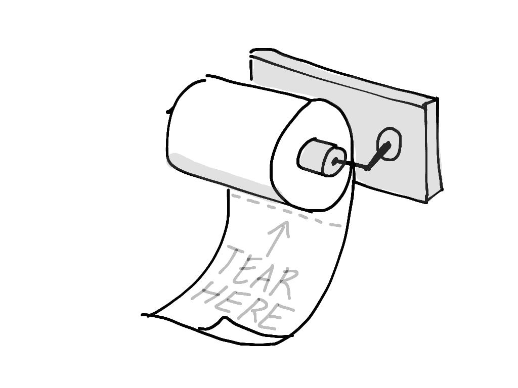 A toilet roll