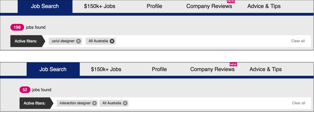 A Search For UX/UI Designer Will Always Reveal More Job Opportunities Than  Interaction Design