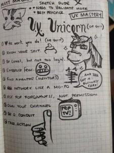 Sketchnote of Matt's World IA Day presentation