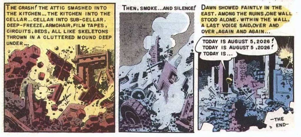 From Weird Fantasy #17, 1952 adaption, illustrated by Wally Wood